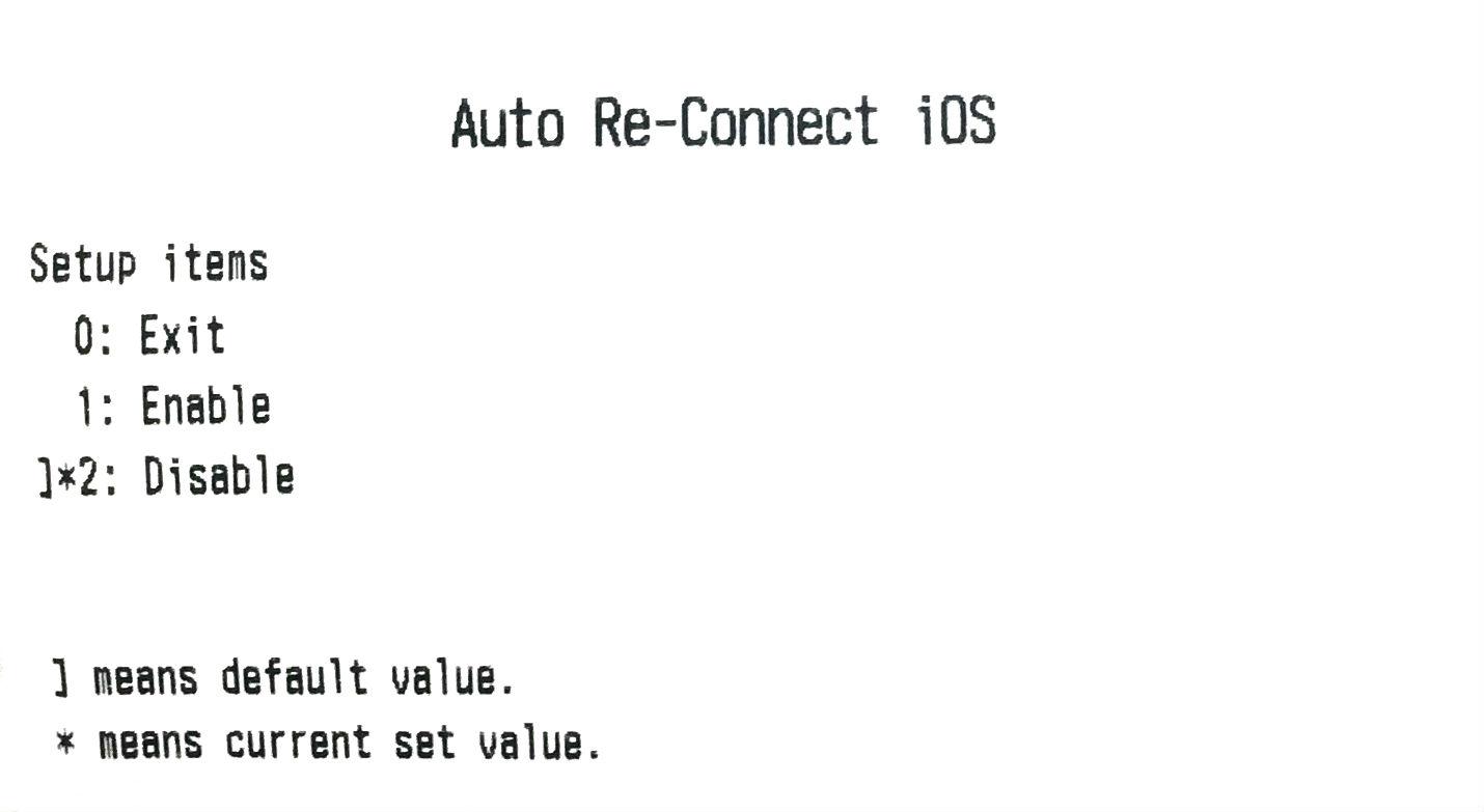 Airウェイト プリンターオートコネクション設定レシート Auto Re-Connect step4